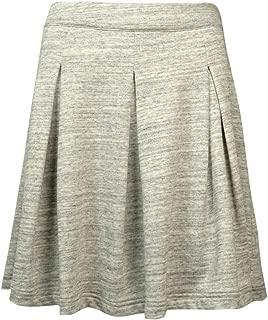 Womens Heathered Pleated A-Line Skirt