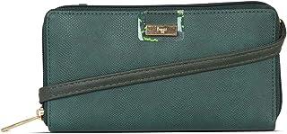 Baggit Women's Ziparound Wallet (Green)