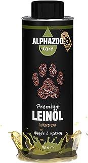 Aceite de linaza para perros y gatos | Prensado en frío | Rico en ácidos grasos omega 3 y 6 | Caja de hojalata reciclable ...