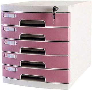 Classeurs 5 couches de bureau Classeur avec serrure, multi-tiroirs fichier Armoire de rangement de stockage portable Fourn...