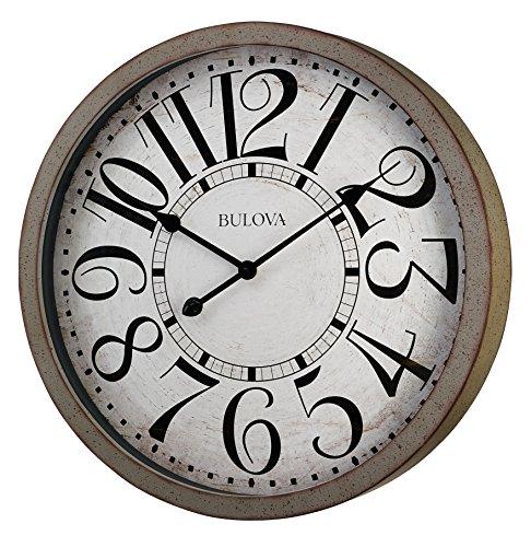 Bulova C4815 Westwood Wall Clock, Antique Grey