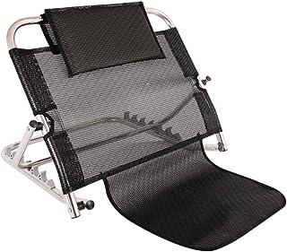 Bed Wedge Stainless Steel Rest Bed Support Bed Back Rest Adjustable Angle Back Rest (Color : Black, Size : 62 * 50 * 26-53cm)
