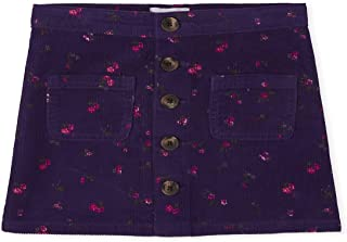 The Children's Place Girls Floral Button Corduroy Skirt