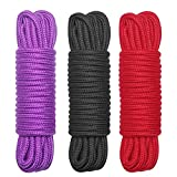 BEYOND MS Cotton Rope, 3-Pack 32 Feet 10 Meter Soft Twisted Cotton Knot Tying Rope