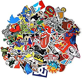 100PCS Stickers Decals Vinyls for Laptop Kids Cars Motorcycle Bicycle Skateboard Luggage Bumper Stickers Hippie Decals bom...