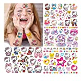 Hello Kitty Tatuajes temporales niños Falso Tatuaje Temporal Pegatinas Tatoos Infantiles Chicos Fiestas cumpleaños de niños Regalo piñata, 7 Hojas