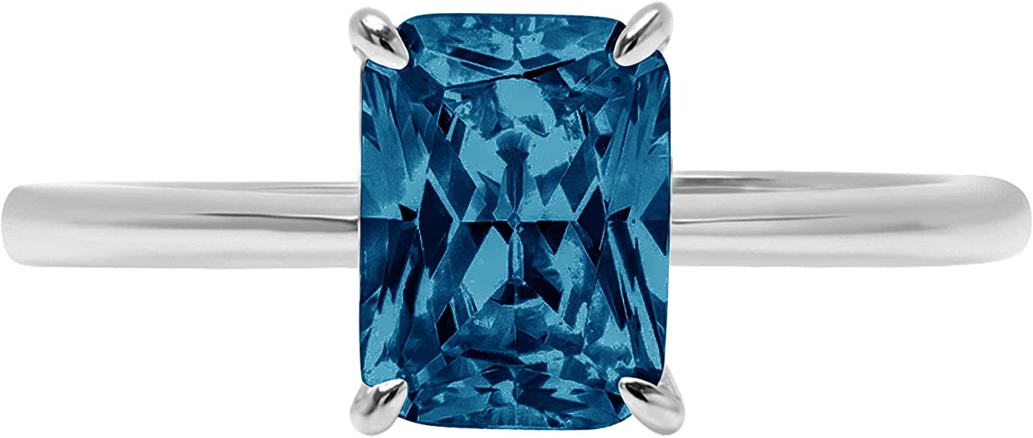 1.0 ct Brilliant Radiant trend rank Cut Solitaire Gem Blue S At the price of surprise London Natural