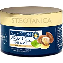 StBotanica Moroccan Argan Hair Mask – Deep Conditioning & Hydration For Healthier Looking Hair, 200 ml