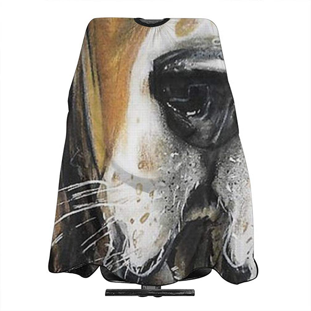 Professional Barber Cape Basset Hound Puppy Art Salon Haircut Aprons Hair Styling Gown For Coloring Perming Hair Cutting Treatment Shampoo Chemical Proof Hairdresser 55