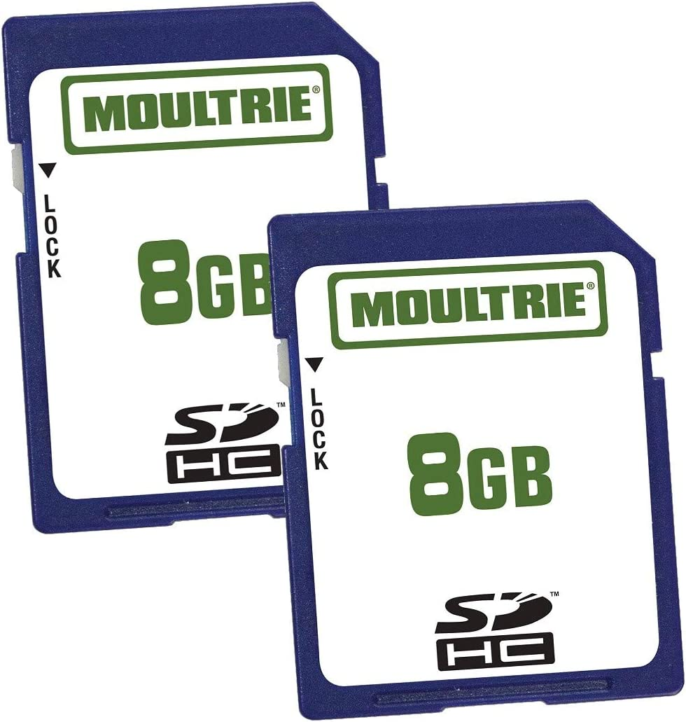 Moultrie Game Camera SD Cards 8GB for Moultrie 2007 & Newer Moultrie Game Cameras - (2 Pack)