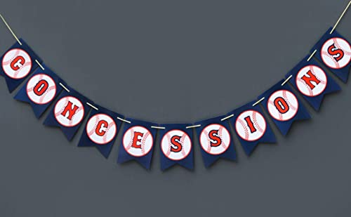 Boston Creative company Baseball Concessions Banner Concession Sign Baseball Decor Baseball Happy Birthday Banner Baseball Themed Pennant Banner
