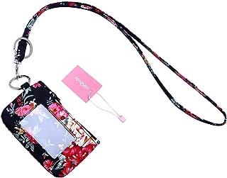 dandodo Card Holder ID Case Badge Neck Strap Lanyard (001Black)