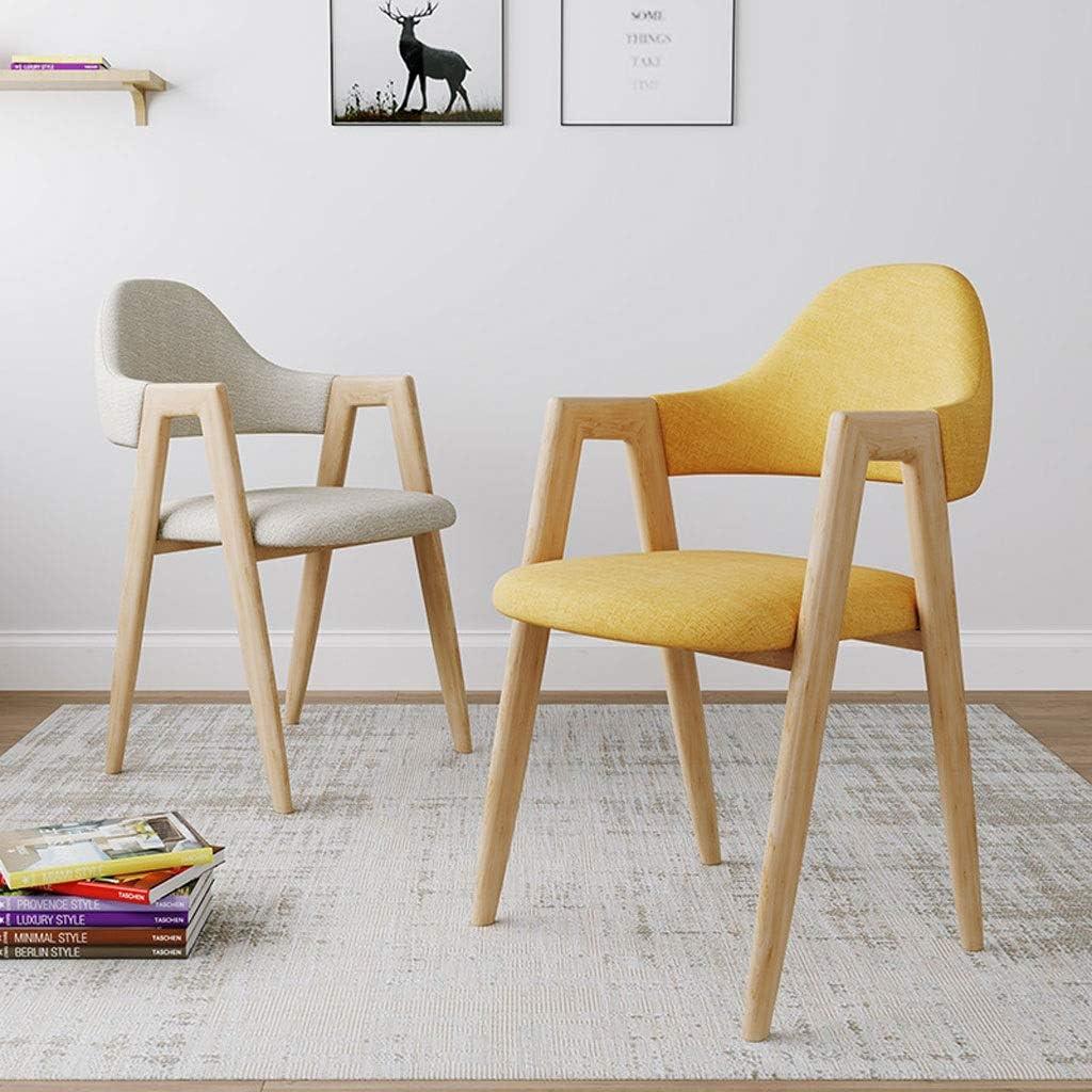 YShop Chaise de Salle à Manger Moderne en Tissu avec Pieds en Bois D