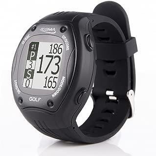 POSMA GT1Plusゴルフトレーナー GPS ゴルフウォッチ、距離計付き、ダウンロード不要指定不要のゴルフコース搭載、黒色 、国際ゴルフコース対応 GPS Golf Watch Range finder