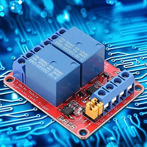 Keenso 2-Kanal-Relaismodul-Relaiskarte mit Low-Level-Optokoppler-Erweiterungskarte (12V)