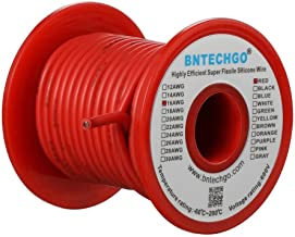 BNTECHGO 16 Gauge Silicone Wire Spool Red 25 feet Ultra Flexible High Temp 200 deg C 600V 16 AWG Silicone Rubber Wire 252 ...
