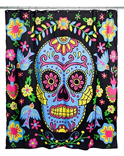 Too Fast - Duschvorhang Mexican Embroidery (Schwarz)