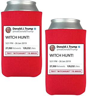 """Official Limited Edition Donald Trump""""Witch Hunt"""" Beverage Coolers (2 Pack)"""