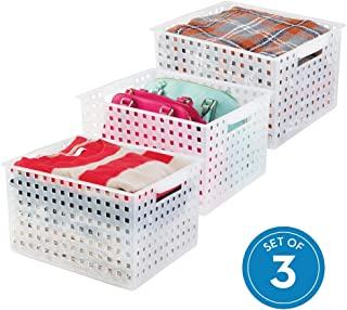 iDesign Modulon Plastic Storage Organizer Basket with Handle for Bathroom, Health, Cosmetics, Hair Supplies, Beauty Products, 14.25