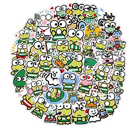 OUJINKUAJING 52 pz Big Eye Frog Keroppi Graffiti Adesivi Bambino Classico Fai Da Te Giocattolo Bici Da Viaggio Bagagli Chitarra Impermeabile PVC Decalcomanie