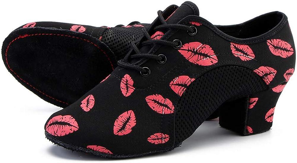 HIPPOSEUS Boys and Gilrs Lace-up Professional Latin Dance Shoes Kids Ballroom Jazz Tango Waltz Salsa Shoes for Men Low Heel, Model 518