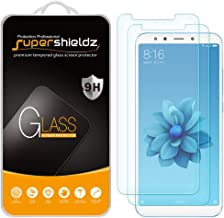 (2 Pack) Supershieldz for Xiaomi Mi A2 and Mi 6X Tempered Glass Screen Protector, Anti Scratch, Bubble Free