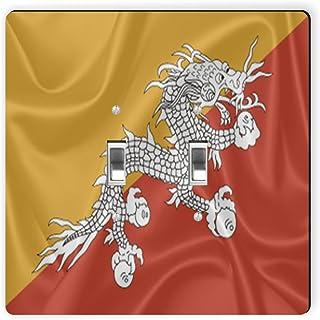 Rikki Caballero 2738doble Toggle diseño de bandera de bhután Interruptor de luz Plate