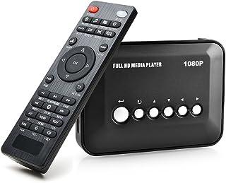 AGPtek 1080P HDMI TV Media Player with HDMI / YPbPr / AV Output, USB/SD Ports with Remote Control for MP3 AVI RMVB MPEG etc