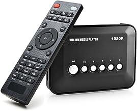 AGPTEK 1080P Full HD TV Digital Multi Media Player Media Player Reproductor Multimedia con Control Remoto para 1080P HD USB SD MMC MP3 RMVB AVI, MPEG, DivX MKV