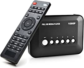 AGPtek 1080P HDMI TV Media Player with HDMI / YPbPr / AV Output, USB/SD Ports with Remote Control for MP3 AVI RMVB MPEG etc