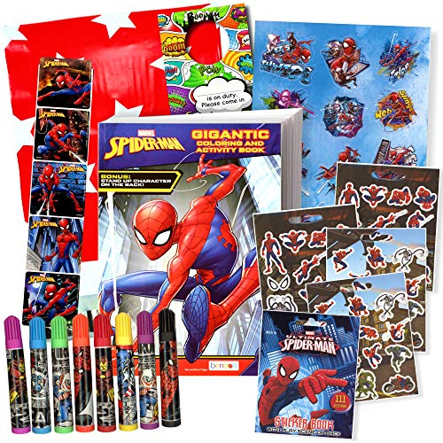 Product Image of the Nick Jr. Studios Spiderman Coloring Book with Spiderman Stickers and Markers...