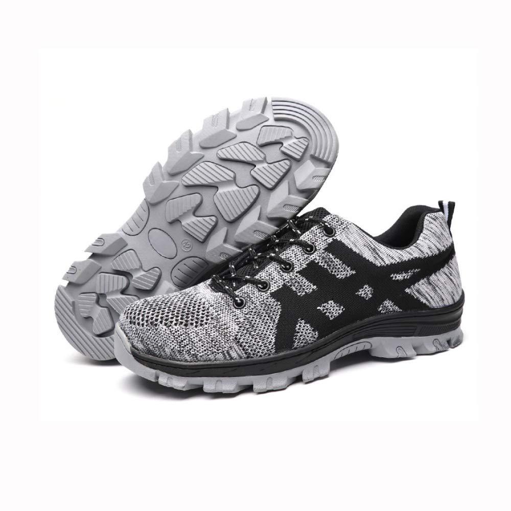 Zapatos De Seguridad Hombre con Puntera De Acero Zapatillas De Seguridad Trabajo S1P,Grey-50: Amazon.es: Hogar
