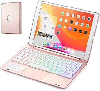 for Newest iPad 8th Generation (2020)/7th Generation(2019) 10.2 inch Keyboard Case,7 Colors Backlit Smart Folio Stylish Ha...