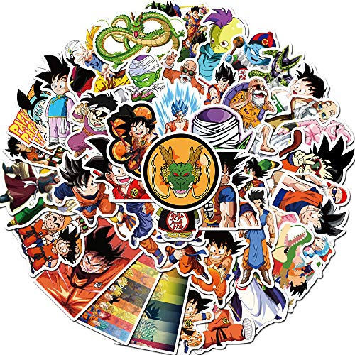 ZNMSB 50 Pegatinas de Graffiti de Dragon Ball de Anime, Pintura para portátil, Scooter, Taza de Agua, Guitarra, Locomotora, Casco, Pegatinas