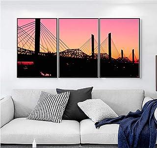 AKLIGSD Cuadros Lienzo de Pintura Puente Colgante para la Cocina del Dormitorio de la Sala de Estar, 50 cm X 70 cm X 3pcs (sin Marco)