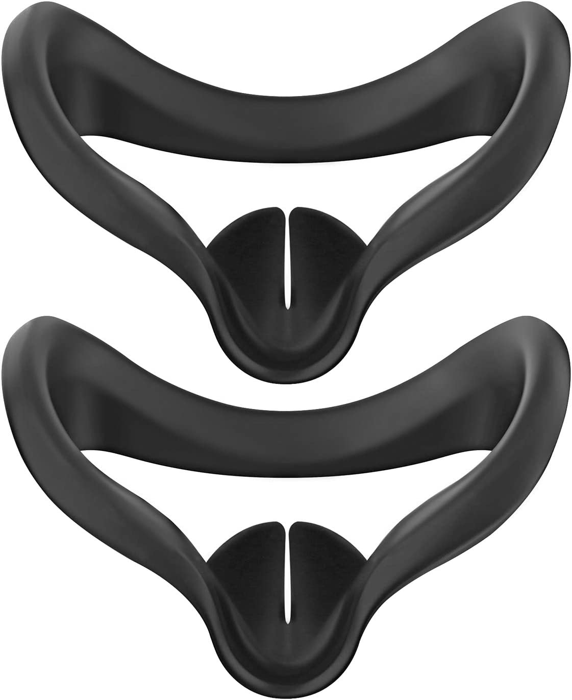 Esimen Silicone Mask Cover for Oculus Quest 2 Face Cushion Cover Sweatproof (Black+Black)