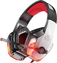 BENGOO V-4 Gaming Headset for Xbox One, PS4, PC, Controller, Noise Cancelling Over Ear Headphones with Mic, LED Light Bass...