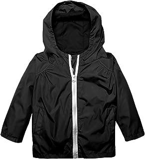 Kid Girls Boys Casual Lightwight Rainjacket Waterproof Raincoat with Hooded