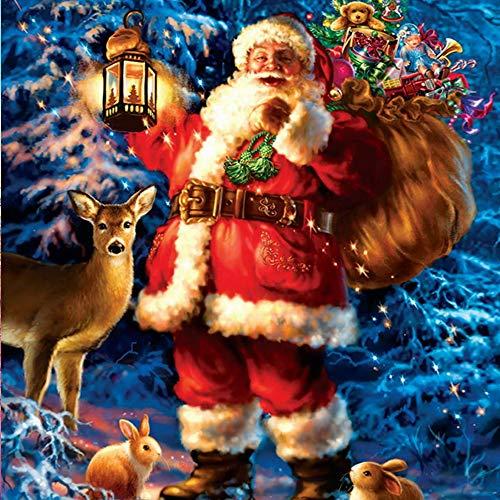 Sporgo - Kit de pintura de diamante 5D 5D para Navidad, pintura por números, kit completo de broca completa, bordado, manualidades, decoración de pared, 30 x 40 cm