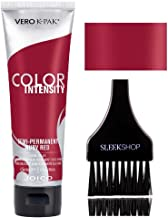 Joico Color Intensity Semi-Permanent Creme Hair Color (with Sleek Tint-Brush) (Ruby Red)