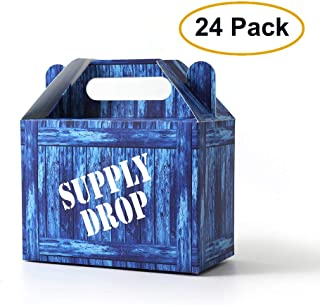 SUYEPER Game Party Box Party Supply Drop Box For Birthday Party Supplies Favors,Gaming Box for Birthdays, Video Game Party Favors for Boys (24 Pack)
