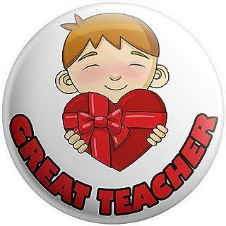 Grand badge à épingle – Cadeau pour enseignant – Cadeau de remerciement – De A Boy – Great Teacher