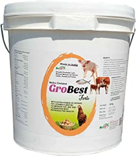 REFIT ANIMAL CARE - Mineral Mixture Cum Growth Promoter for Swine, Cattle, Poultry & Fishes(GroBest Forte 10 Kg.)