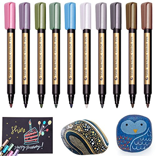 Metallic Marker Paint Pens - Beupro Metallic Color...