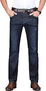 Men's Regular Slim Straight-Leg Stretch Work Casual Five-Pocket Jeans