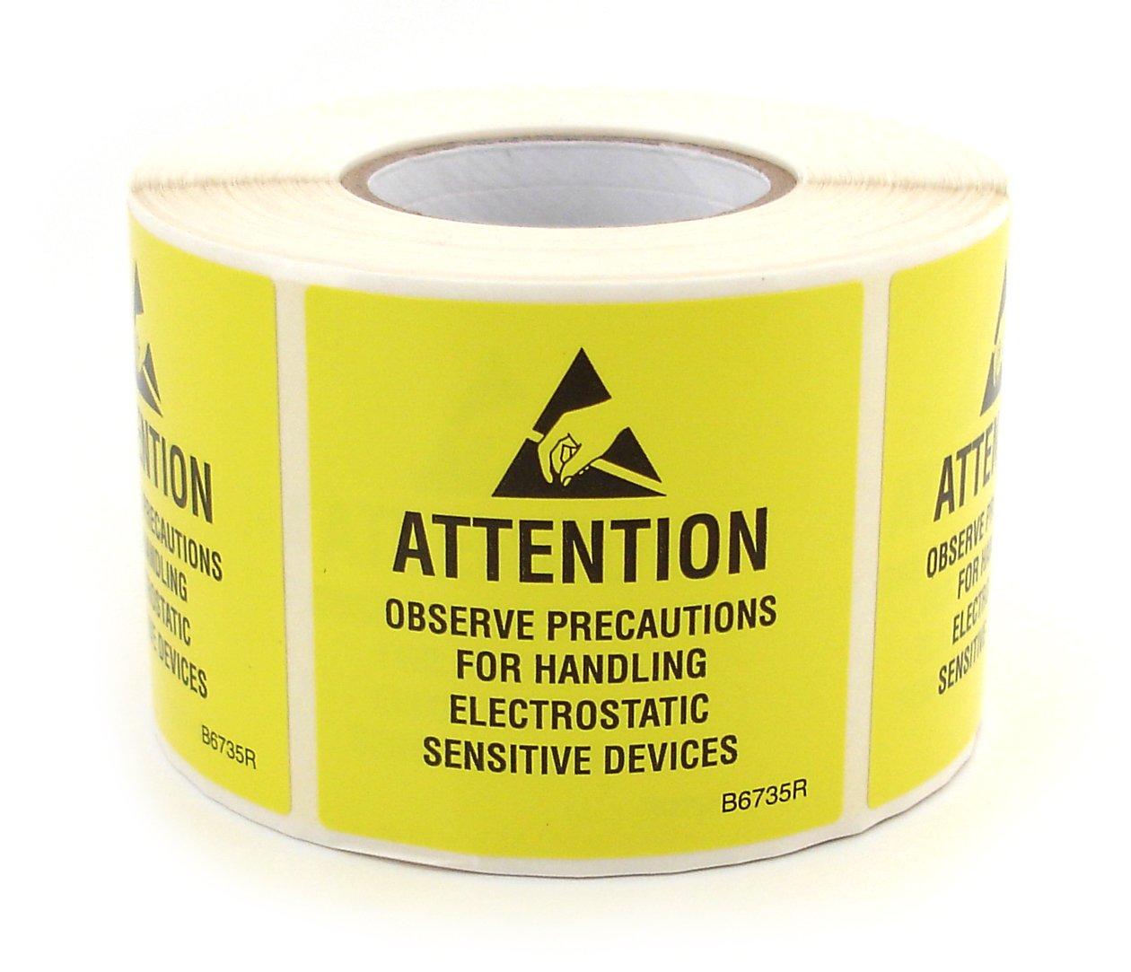 Botron Very popular B6735R Self Adhesive ESD Baltimore Mall Awareness Label x Roll 2'' JEDC