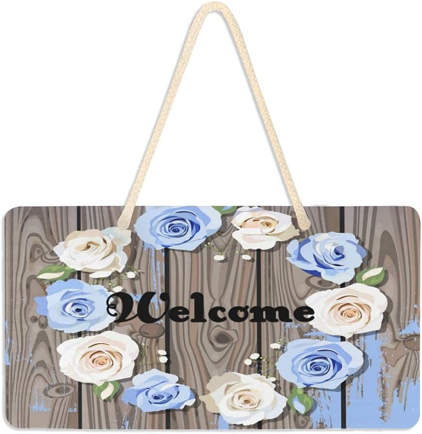 Elegant no applicable Wood Signs for Home Decor Hanging Max 42% OFF Wall Ros Welcome