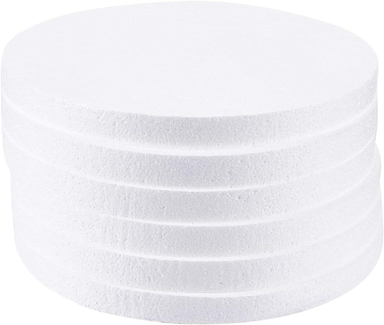 Paquete de 6 círculos de espuma, suministros de arte y manualidades (12 x 12 x 1 pulgadas)