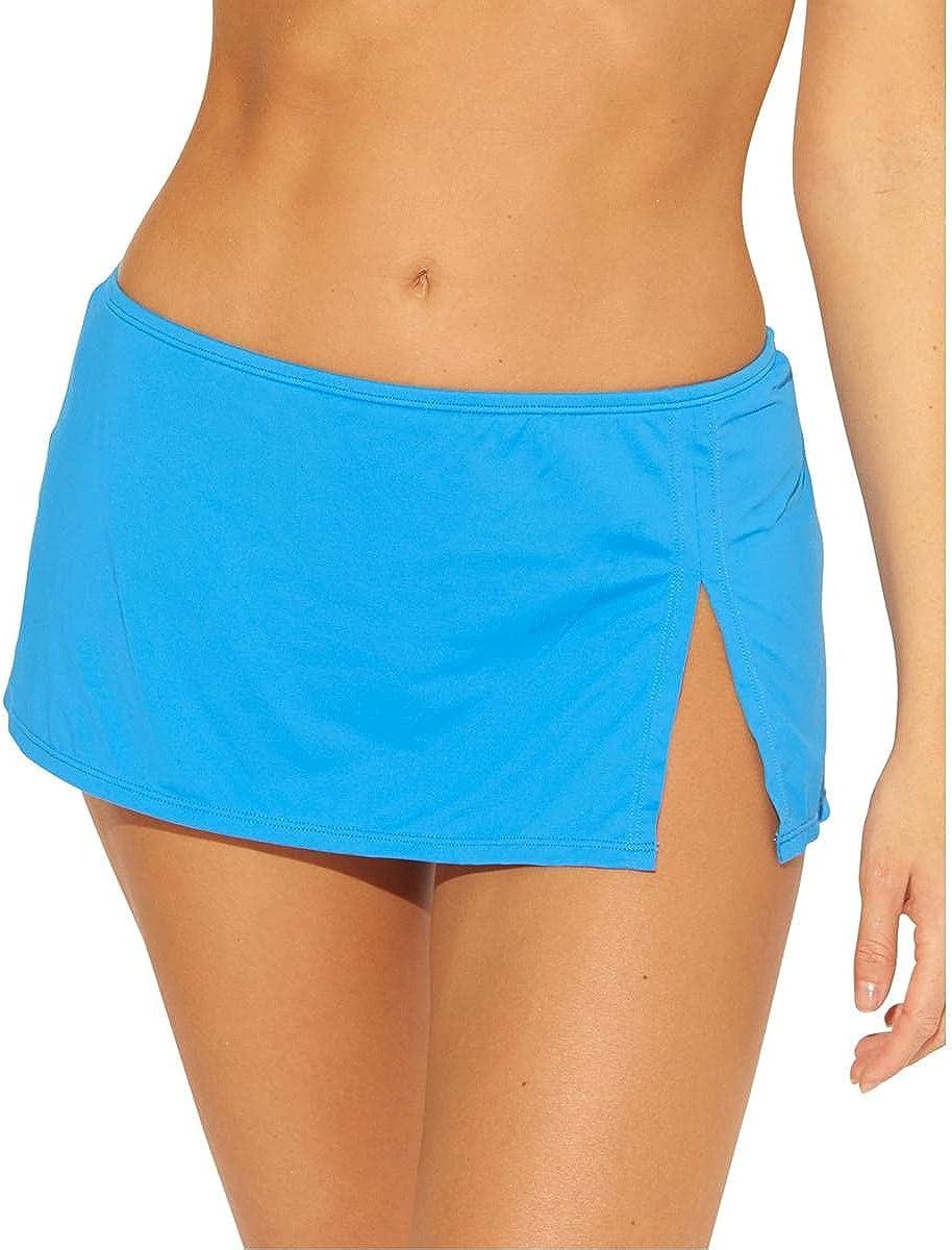 Bleu Rod Beattie Womens Slit Hipster Swim Skirt Blue