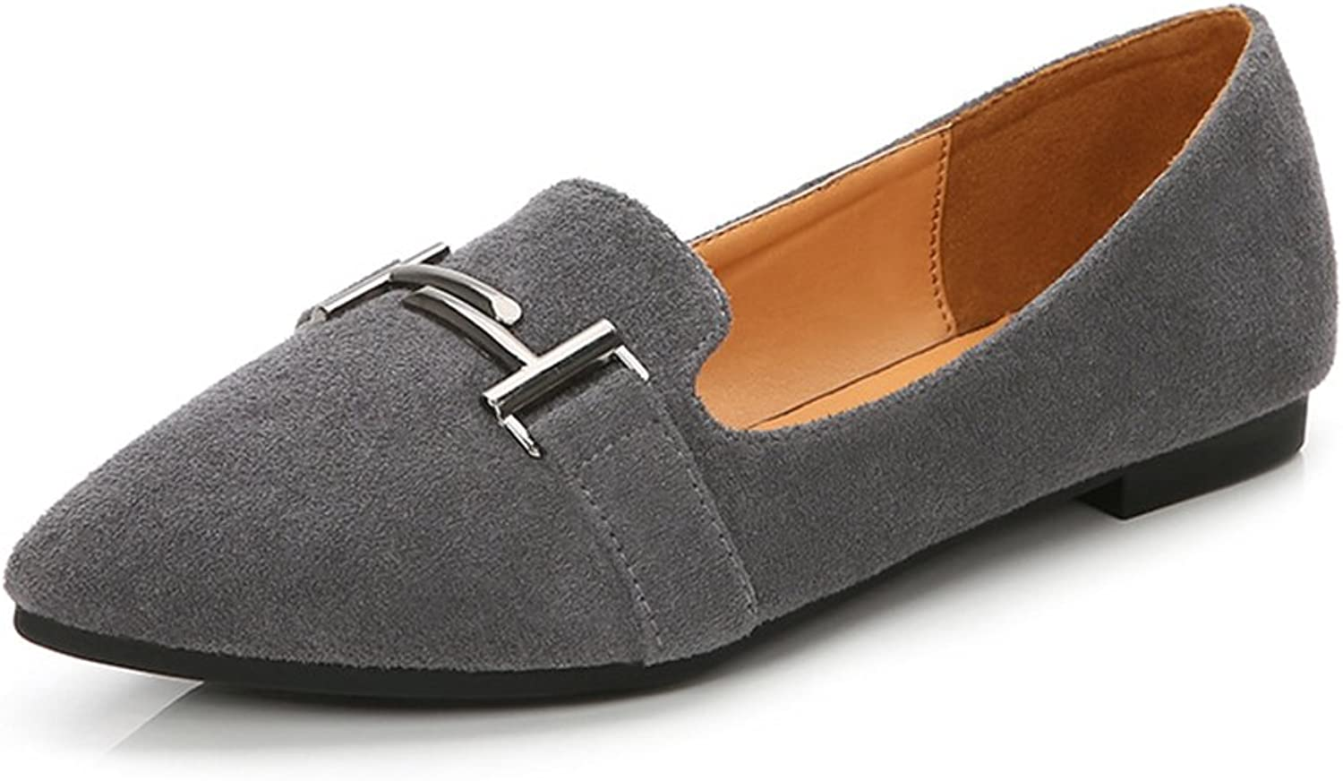 Giles Jones Women's Flats Suede shoes Anti Slip On Loafers Soft Comfort